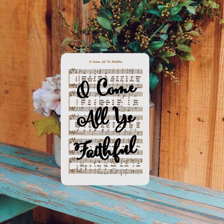 O Come all Ye Faithful - Unframed