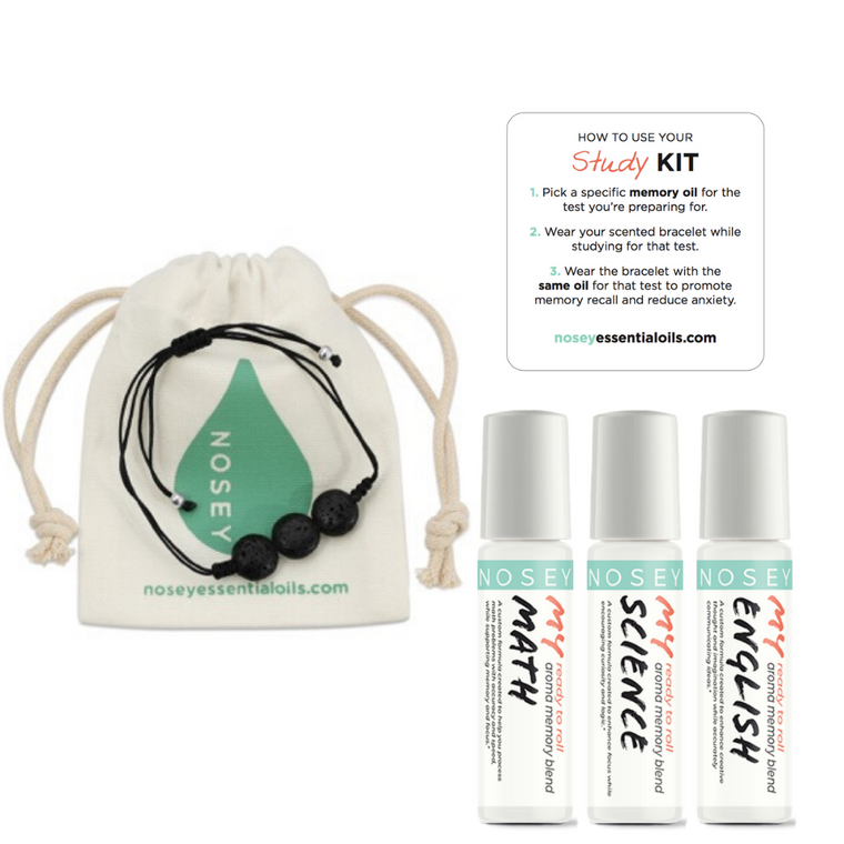 Aromatherapy Kit with Bracelet For Study - Math/English/Science