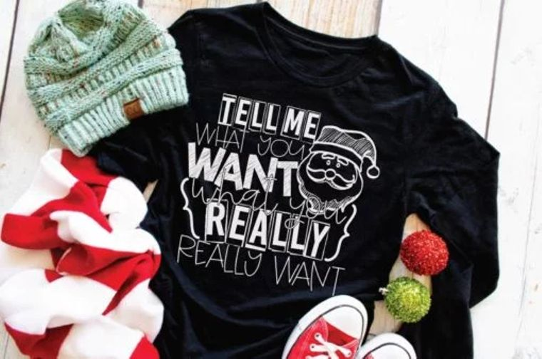 Tell Me What You Want What You Really Really Want Adult Long Sleeve Tee