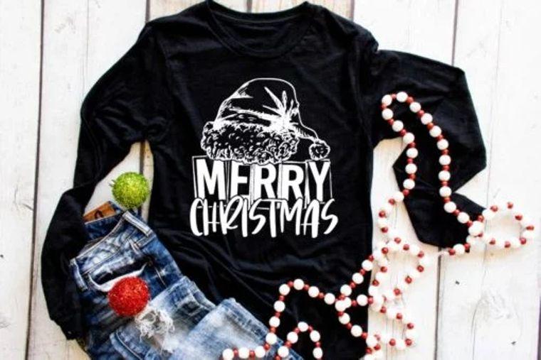 Merry Christmas Adult Long Sleeve Tee