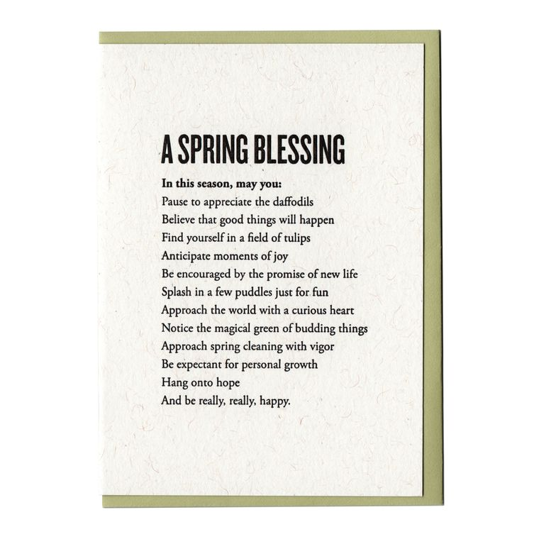 A Spring Blessing Card
