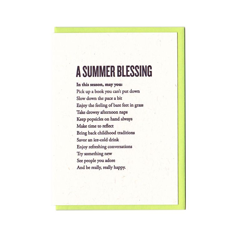 A Summer Blessing Card