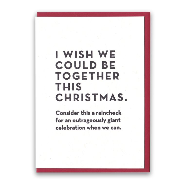 Christmas Raincheck Card