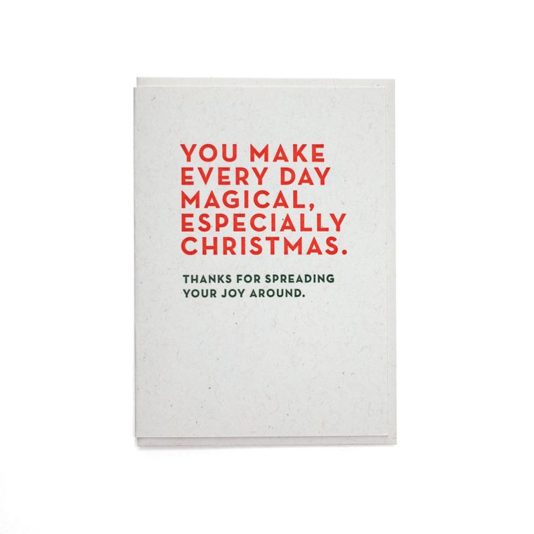 Merry Christmas Repeated Card