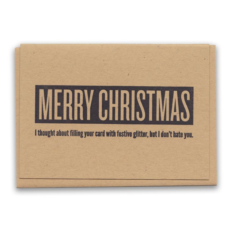Merry Christmas Anti-Glitter Card