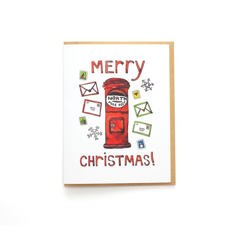 Merry Christmas Mailbox Card - North Pole Post