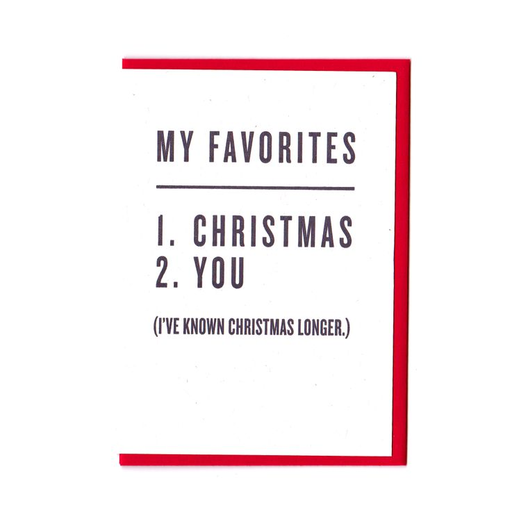 My Favorites - Christmas & You Card