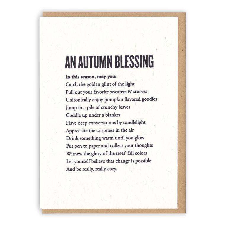 An Autumn Blessing Card