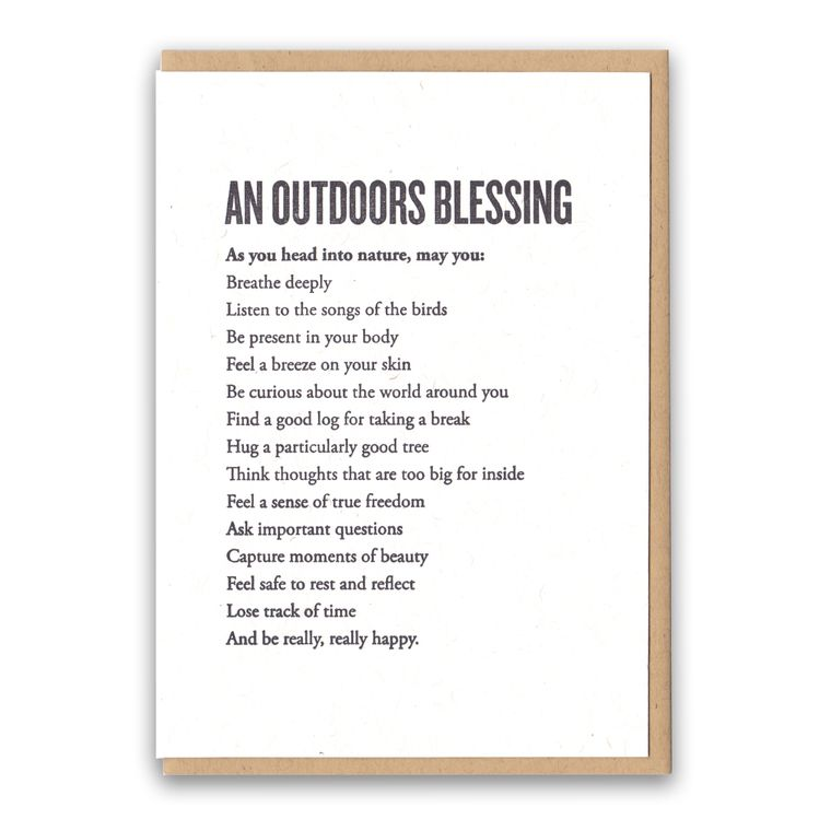 An Outdoors Blessing Card