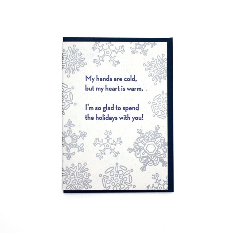 Cold Hands, Warm Heart Holiday Card