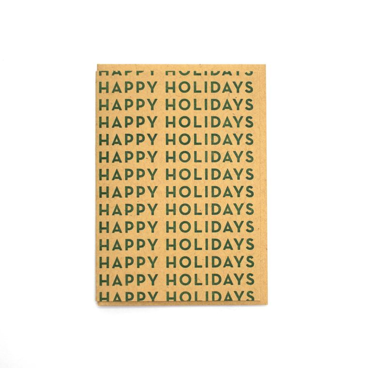 Happy Holidays Repeated Card