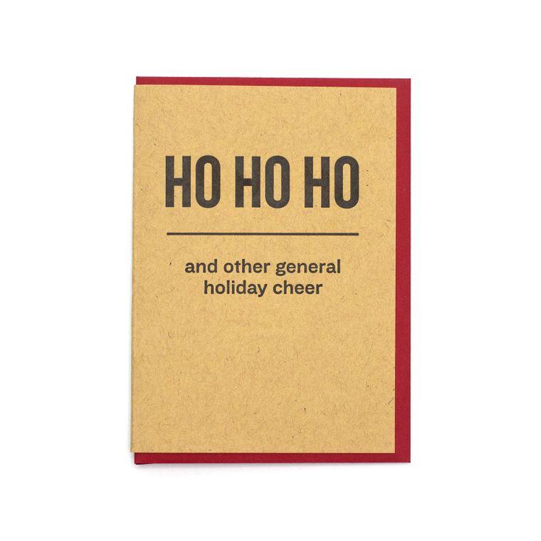 Ho Ho Ho Holiday Cheer Card