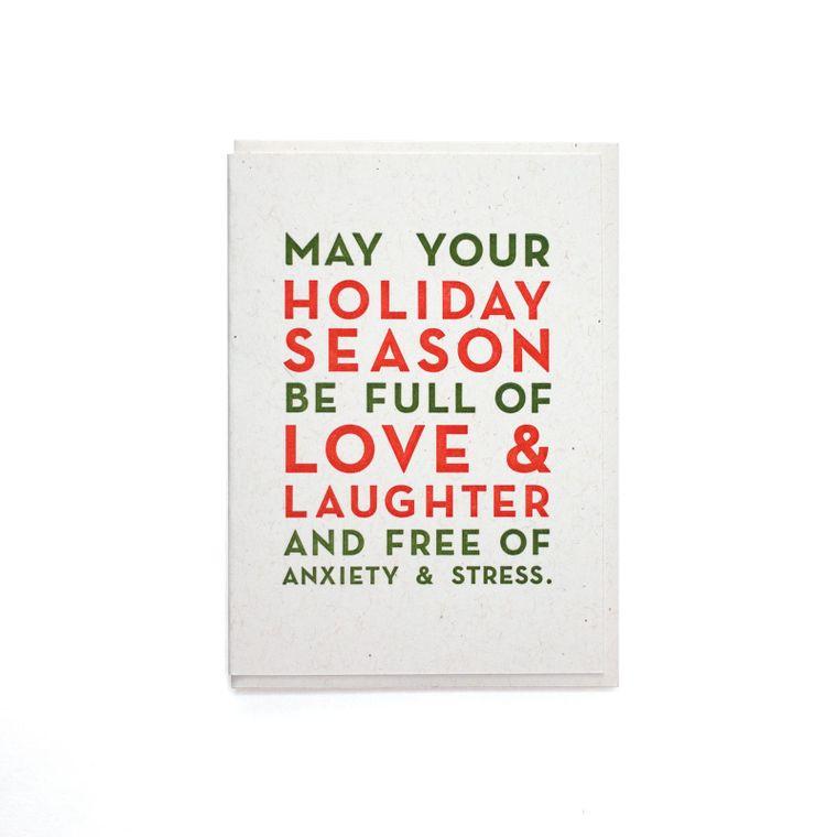 Holiday Season Love & Laughter Card