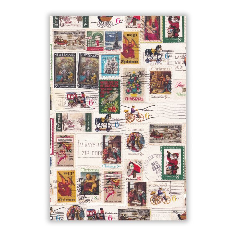 Holiday Stamps Postcard