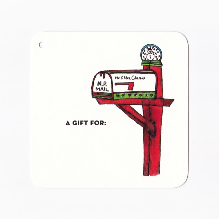 Holiday Gift Tag - Claus Family Mailbox