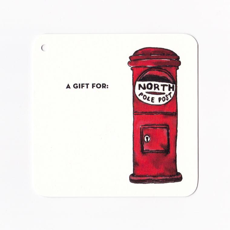 Holiday Gift Tag - North Pole Post Mailbox