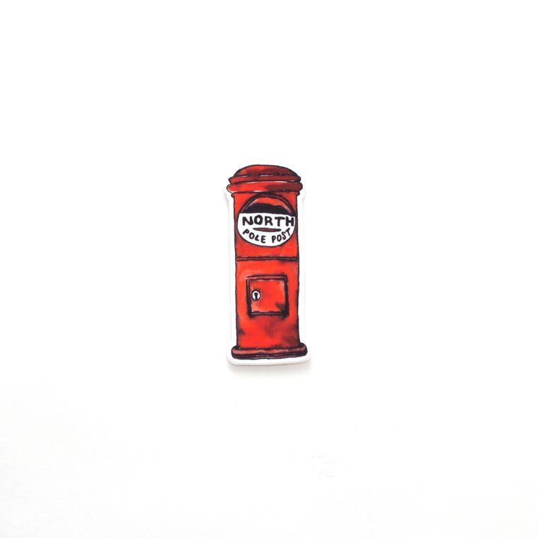 Christmas Mailbox Sticker - North Pole Post