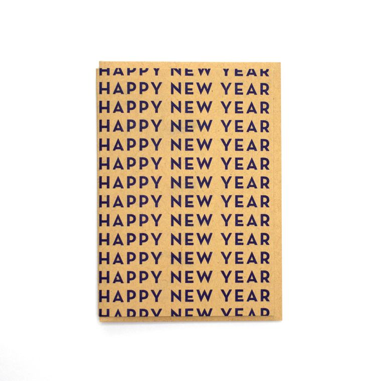 Happy New Year Repeated Card