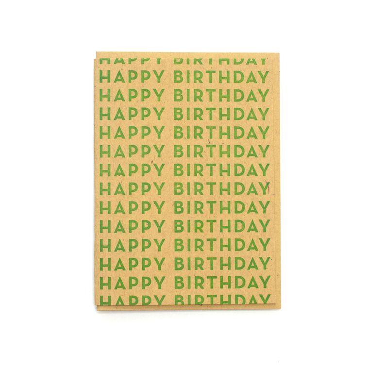 Happy Birthday Repeated Card