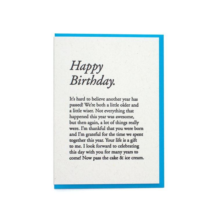 Happy Birthday Paragraph Card