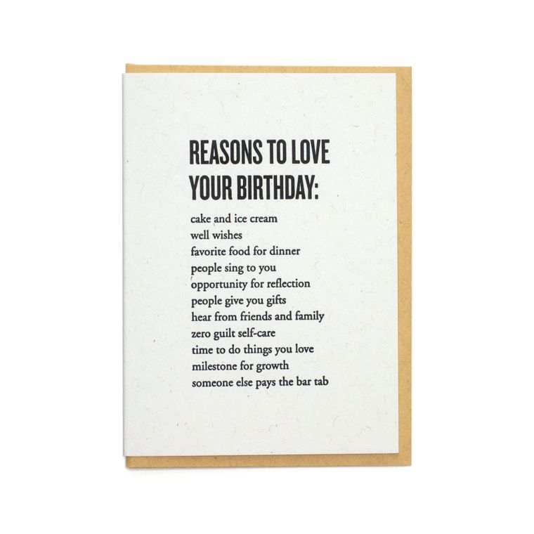 Reasons To Love Your Birthday Card