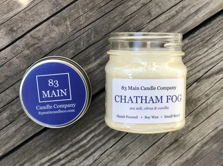 Chatham Fog Mason Jar Candle - 8 OUNCE POUR