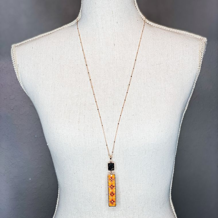 Cruz Necklace - Mustard Multi