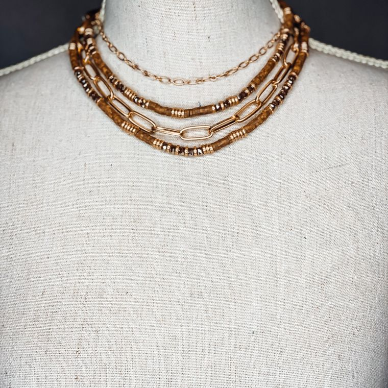 Rhett Necklace - Taupe