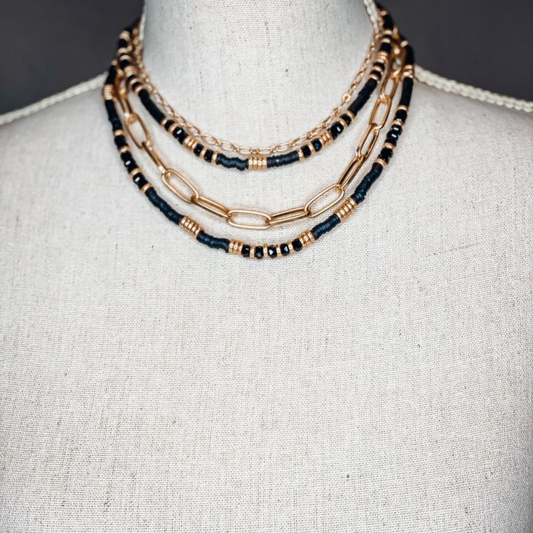 Rhett Necklace - Black