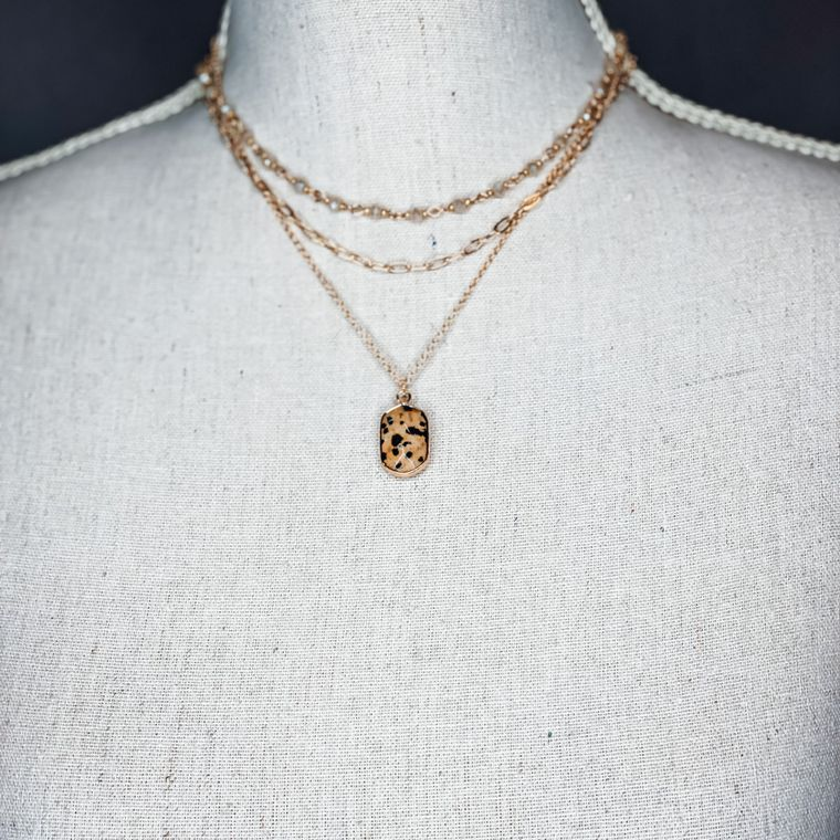 Myles Necklace - Dalmatian Jasper