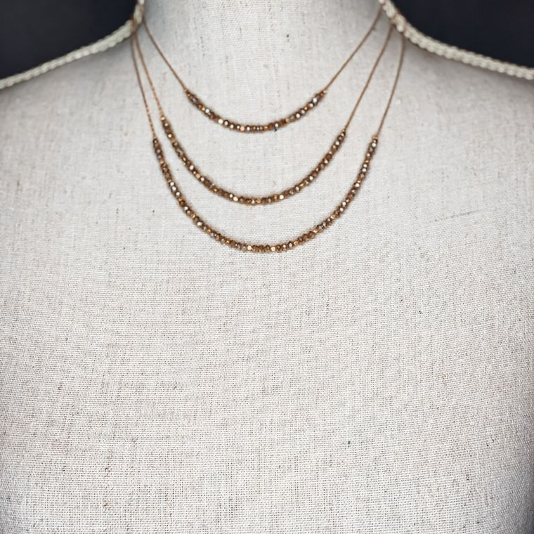 Beckham Necklace - Taupe