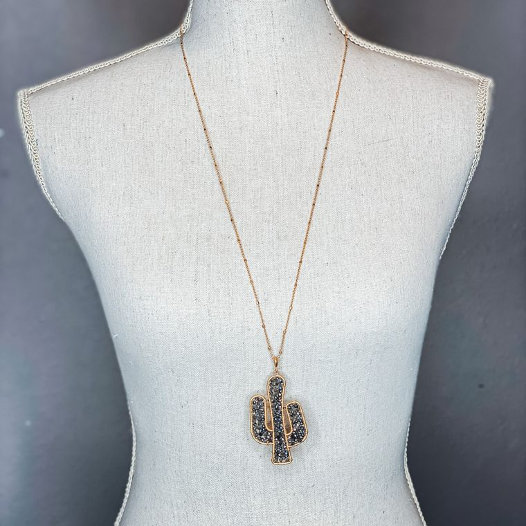Saguaro Necklace - Light Grey