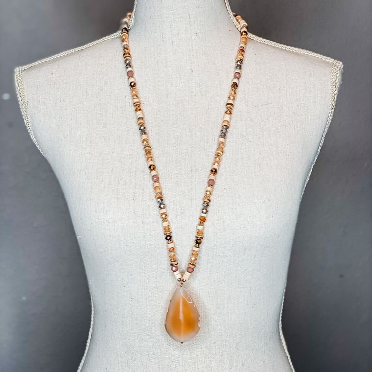 Bette Necklace - Orange