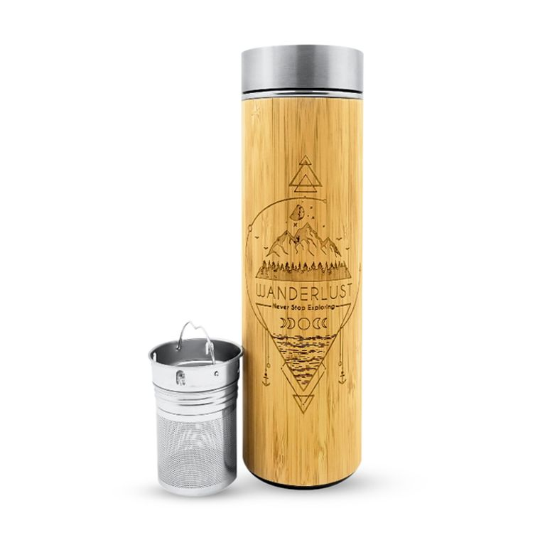 16.9oz WANDERLUST Bamboo Water Bottle