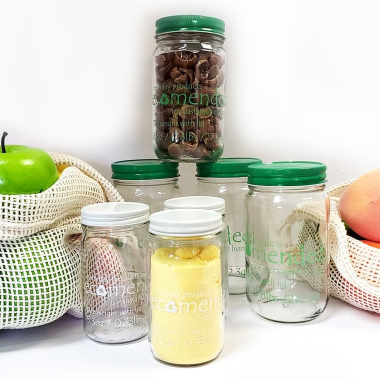 8oz glass jar with tare weight