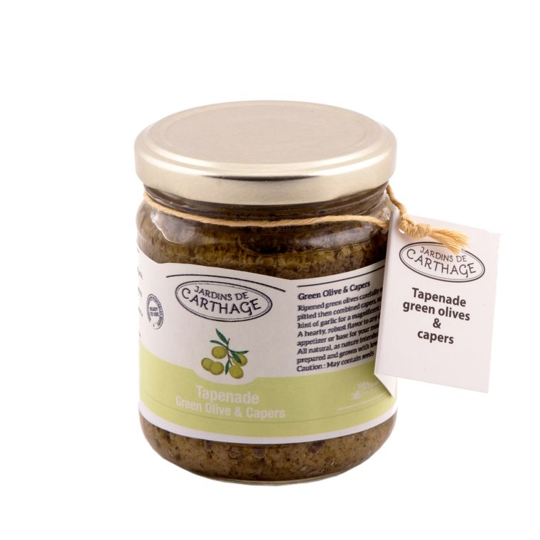 Tapenade, green olives and capers
