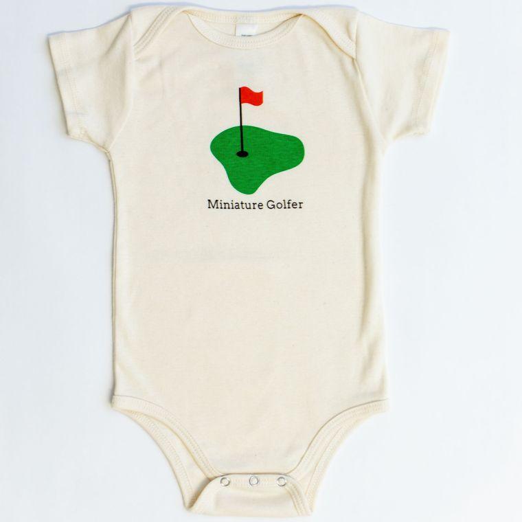 Organic baby romper - Miniature Golfer