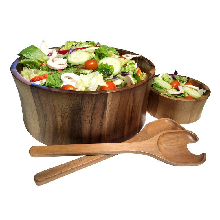 "Salad Bowl with Servers -10"" bowl"