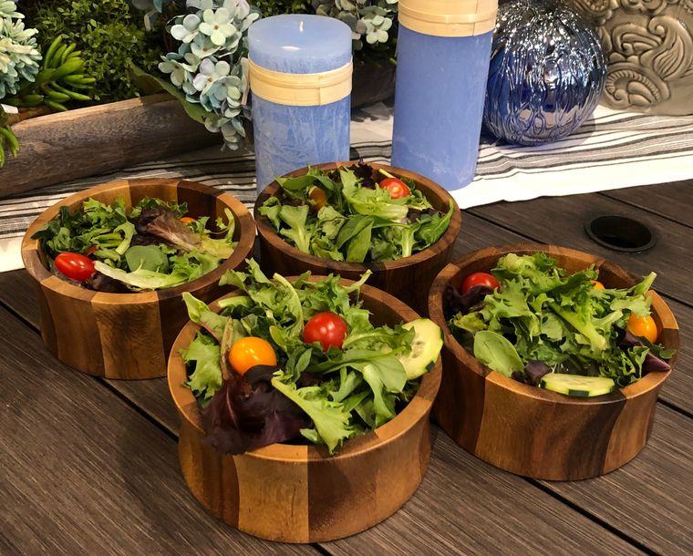 Individual Salad Bowls - set of 4