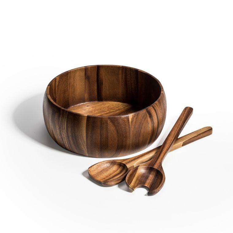"Salad Bowl with Servers - 10"" bowl"
