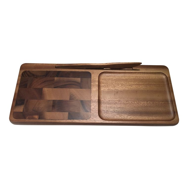 Cheeseboard with Knife - Small rectangular with endgrain
