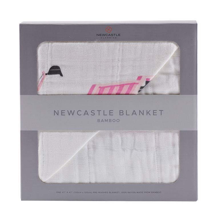 Pink Digger and White Newcastle Blanket