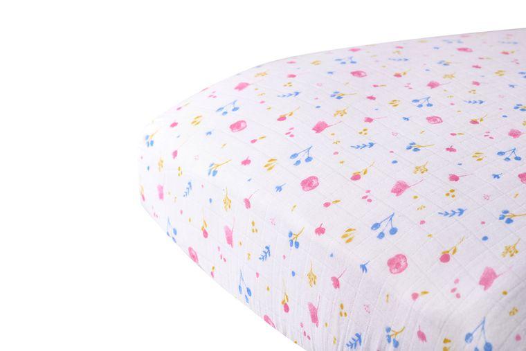 Spring Time Flower Crib Sheet