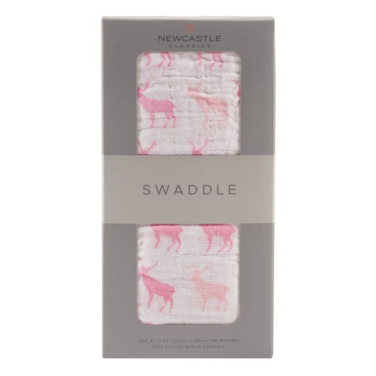 Pink Deer Swaddle