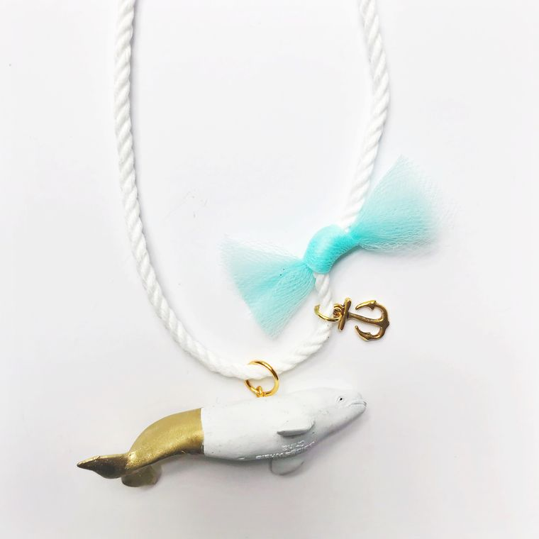 Beluga White Whale Necklace