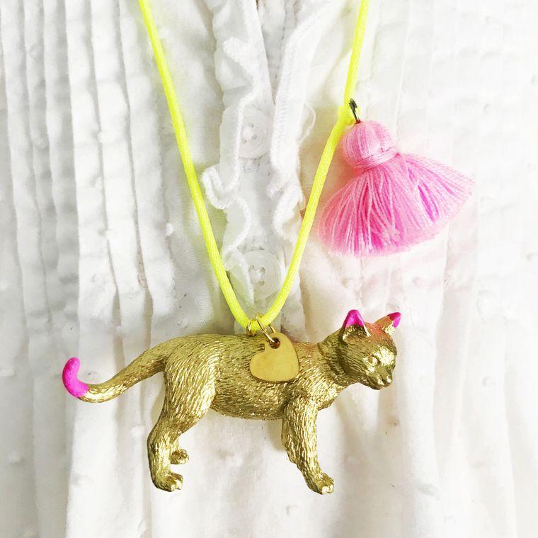 Cat Tassel Necklace