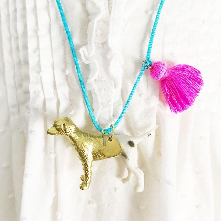 Dog Tassel Necklace
