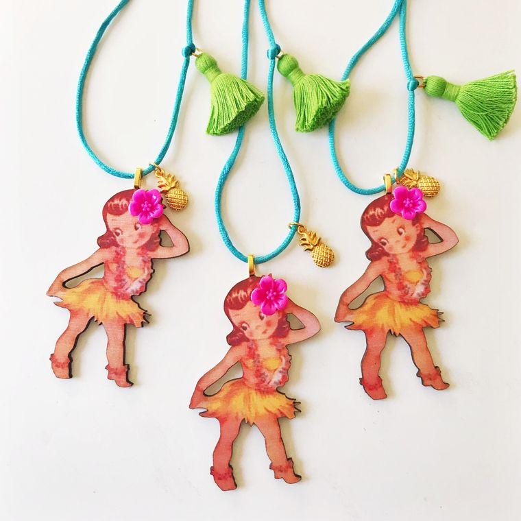 Hula Girl Necklace