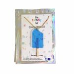 Popsicle Necklace in Ice Blue with Bite