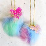 Rainbow Unicorn Fluff Necklace